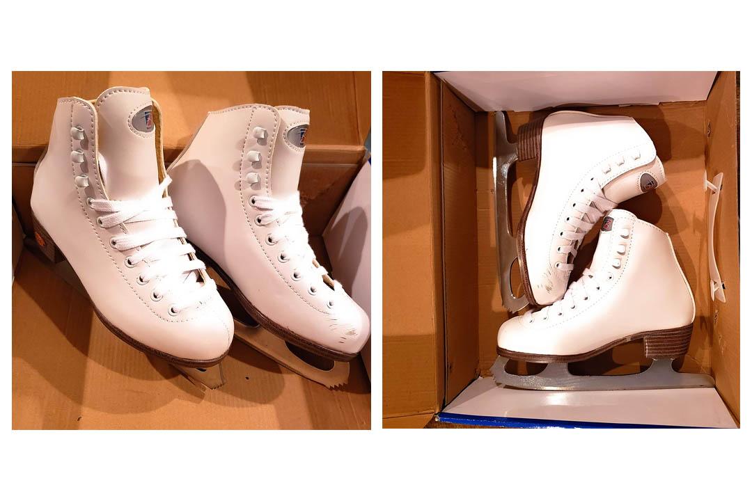 Riedell 10 - White Girls Figure Skate