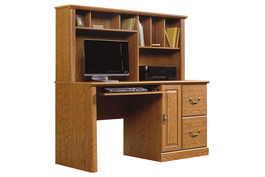 Sauder Orchard Hills Computer Desk with Hutch - Carolina