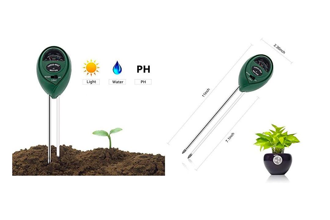 Soil Tester, Deepow 3-in-1 Soil Moisture Meter, Soil Ph Meter Kit for Moisture, Light & pH
