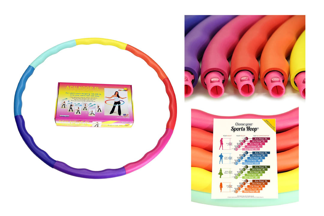 Sports Hoop – Acu Hoop 5L Large, Weighted Hula Hoop