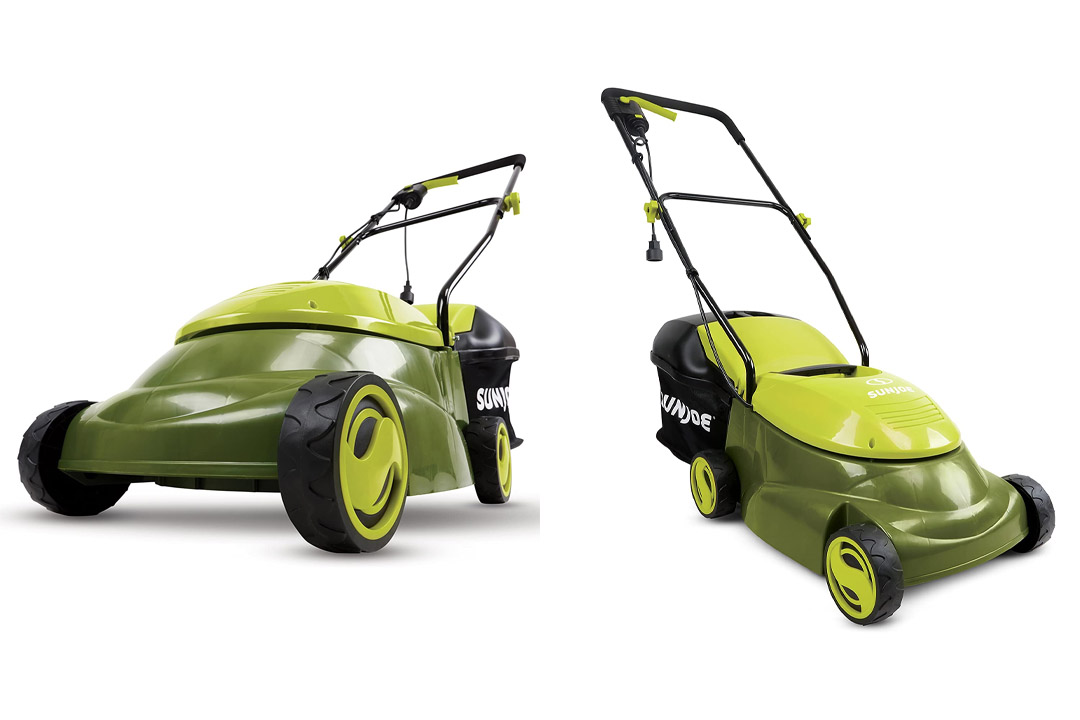 Sun Joe MJ401E 14-Inch 12 Amp Electric Lawn Mower with Grass Bag