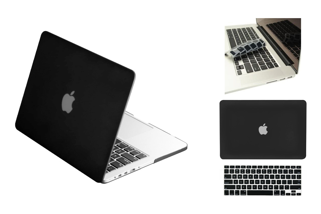 TopCase 2 in 1 Retina 13-inch Rubberized Hard Case Cover and a Matching Color Keyboard Cover + TopCase Mouse Pad