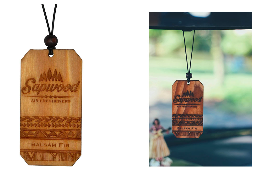 Wooden Air Freshener by Sapwood | Refreshing Balsam Fir Fragrance | 100% Made in the USA | Traveler Design