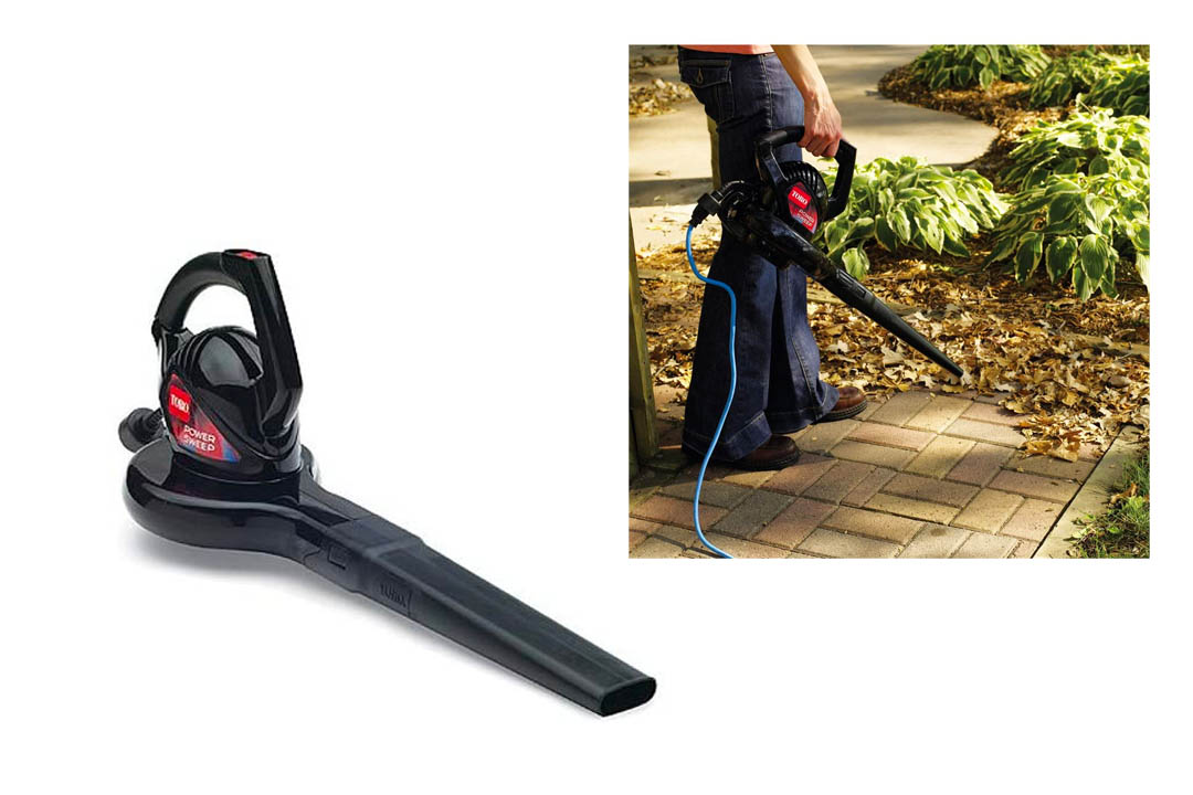 oro 51585 Power Sweep Electric Leaf Blower, 7 Amp 2-Speed