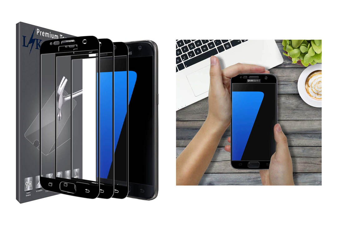 [3 Pack] LK for Samsung Galaxy S7 Screen Protector, [Full Cover] [Japan Tempered Glass] with Lifetime Replacement Warranty
