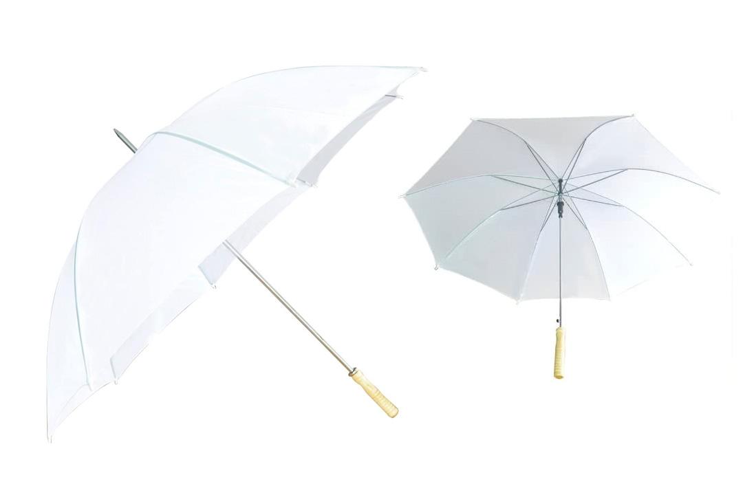 """60"""" White Wedding Umbrellas"""