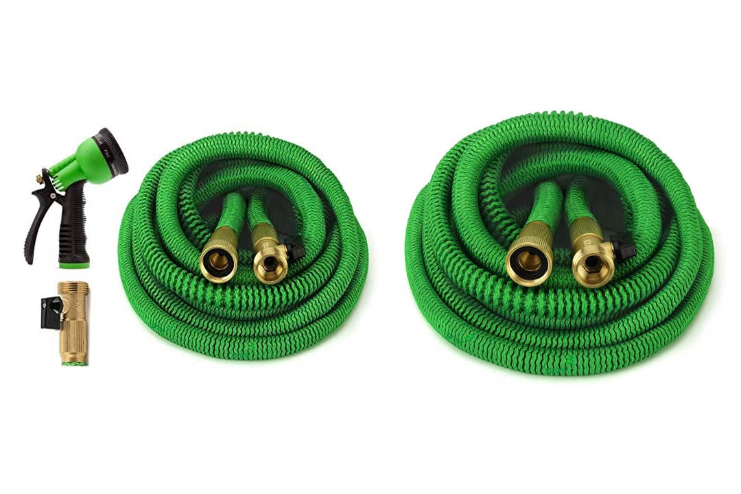ALL NEW 2017 Garden Hose 50 Feet Expandable Hose With All Brass Connectors