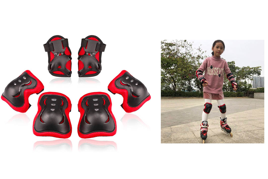 BOSONER Kids/Youth Knee Pad Elbow Pads Guards Protective Gear Set