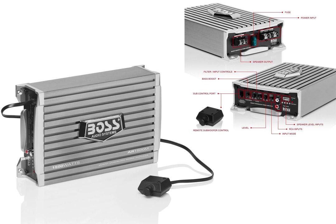 Car Amplifier | BOSS Audio AR1500M Armor 1500 Watt, 2/4 Ohm Stable Class A/B