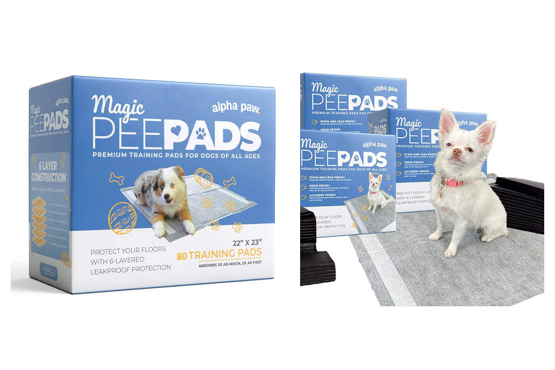 Deluxe Puppy Pads and Dog Training Pad with Super Quick-Dry Activated