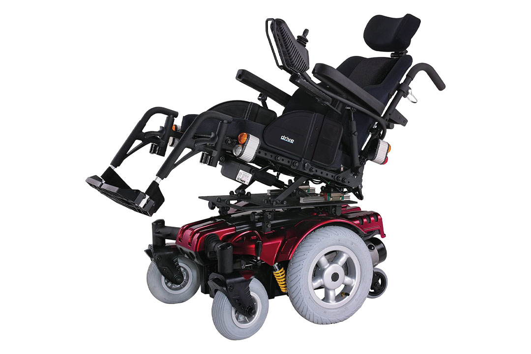 """Drive Medical Sunfire Gladiator Very HD Power Wheelchair with Various Seating Options, Red, 45"""" x 26"""" x 46"""""""