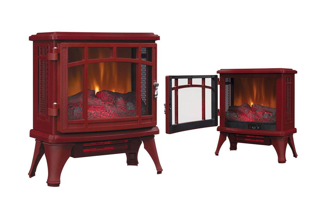 Dusraflame DFI-8511-03 Infrared Quartz Fireplace Stove in Cinnamon