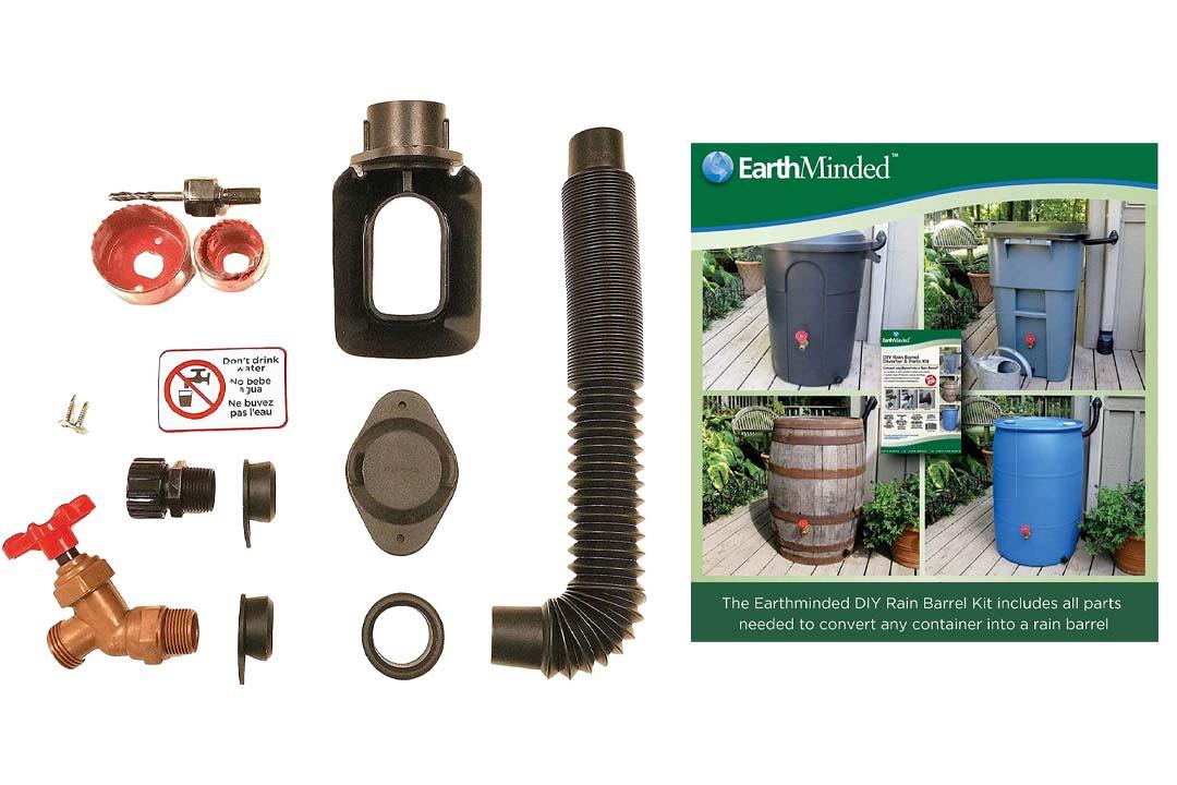 EarthMinded DIY Rain Barrel Diverter Kit for 3 x 4 in. Downspouts
