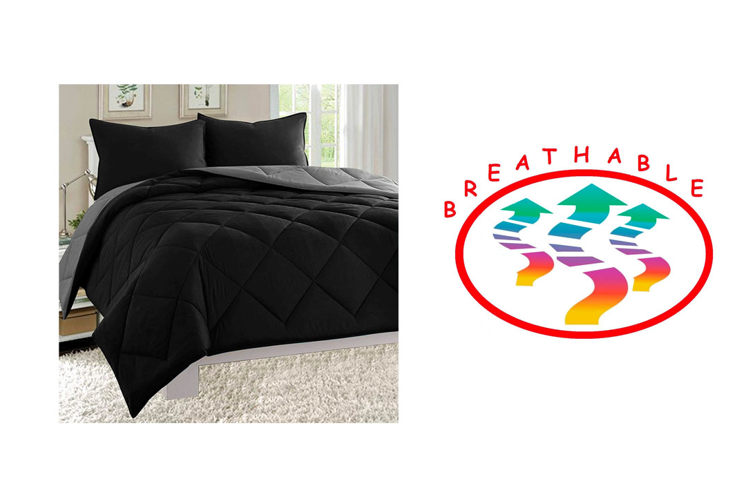 Elegant Comfort ® All Season Light Weight Down Alternative Reversible 3-Piece Comforter Set