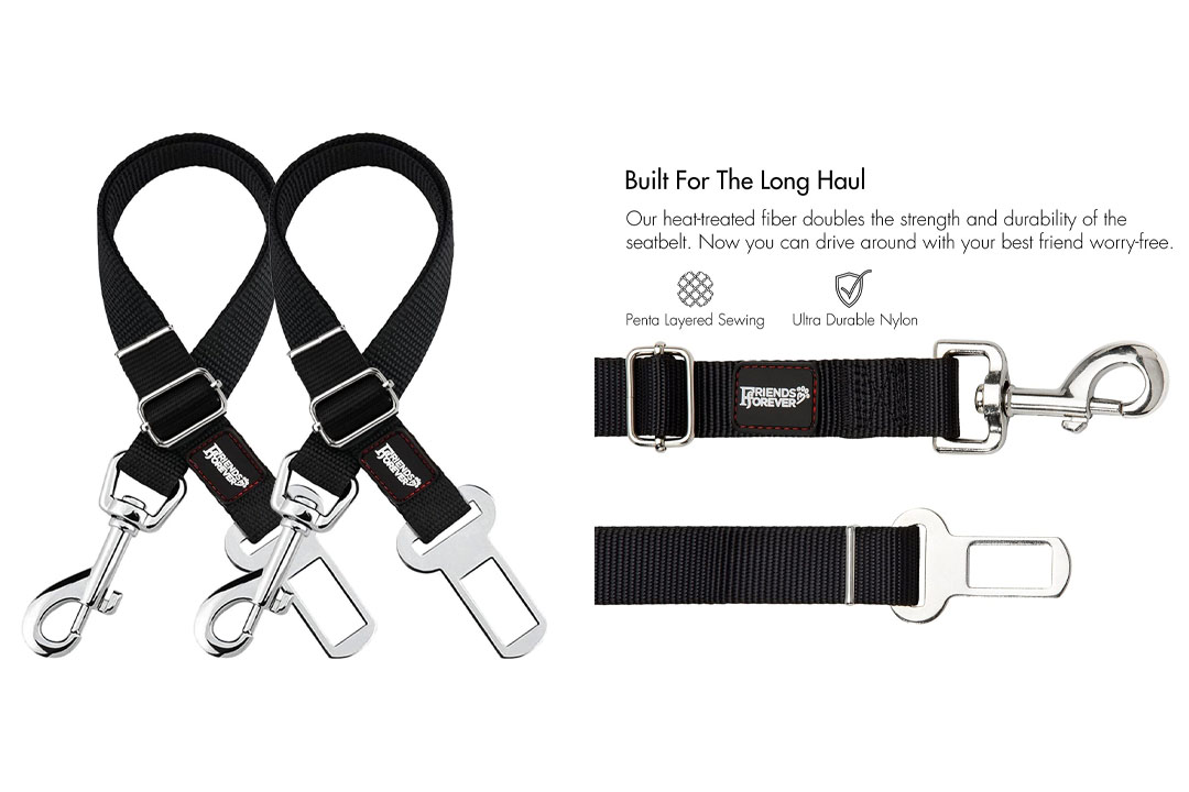 Friends Forever Cat Car Dog Seat Belt, Vehicle Harness Tether Lead, Pet Harness