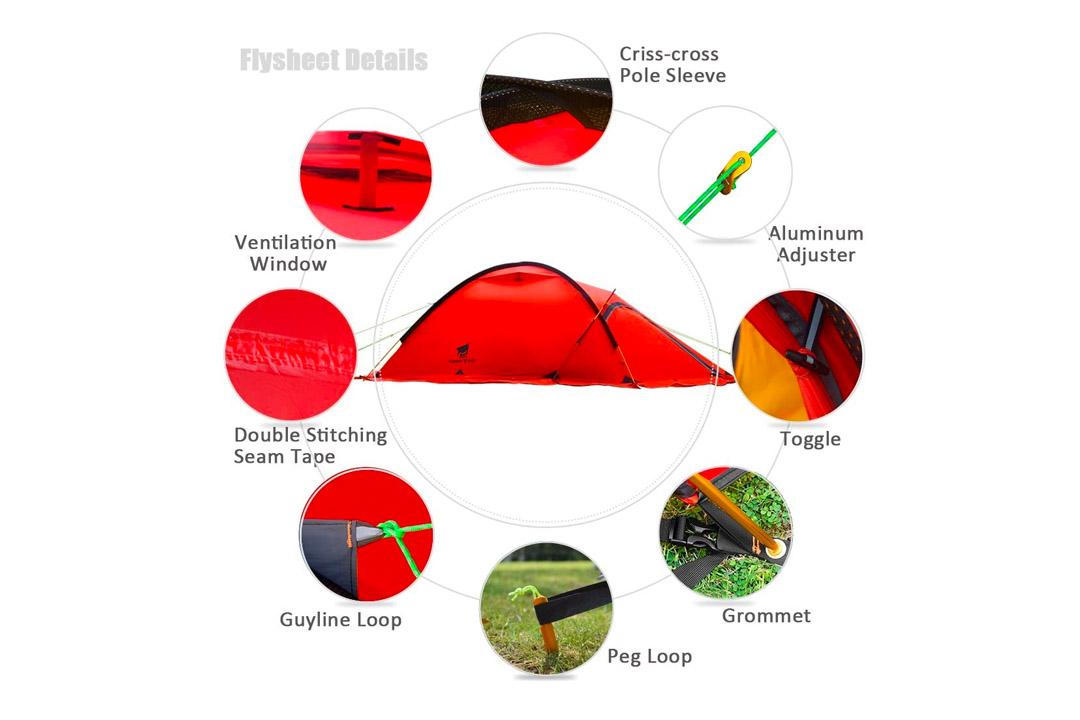 Geertop 2 Person 4 Season 20D Lightweight Alpine Tent