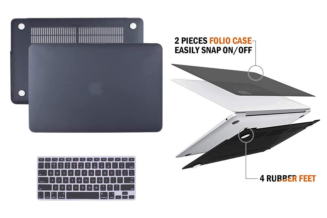 "Macbook Pro Retina 13"" Case, IC ICLOVER Ultra Slim Light Weight Rubberized Matte Hard Plastic Protective Case Cover"