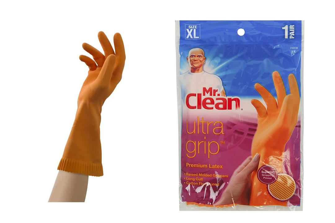 Mr. Clean Ultra Grip Latex Gloves With Grippers