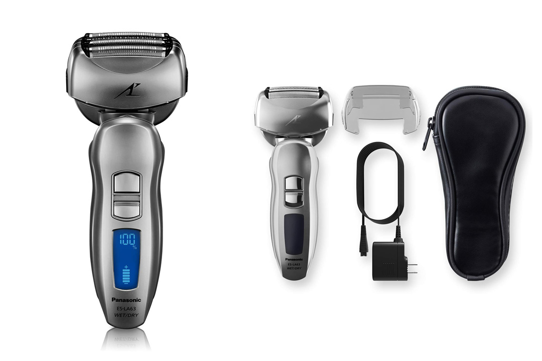 Panasonic ES-LA63-S Arc4 Electric Shaver Wet/Dry with Multi-Flex Pivoting Head for Men