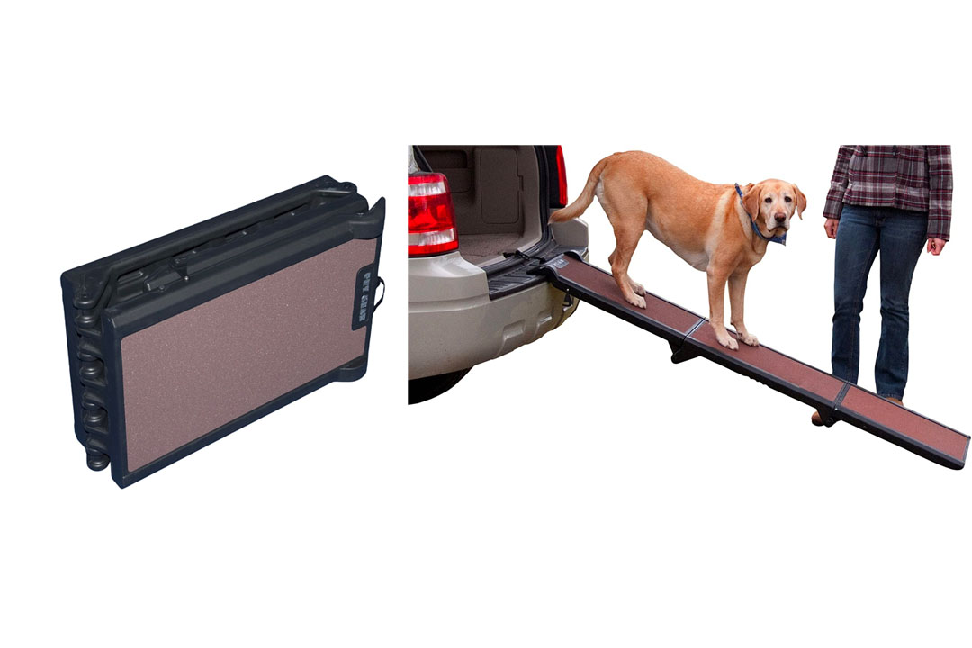 Pet Gear Tri-Fold Ramp, Supports up to 200lbs, 71 in. Long, Patented Compact