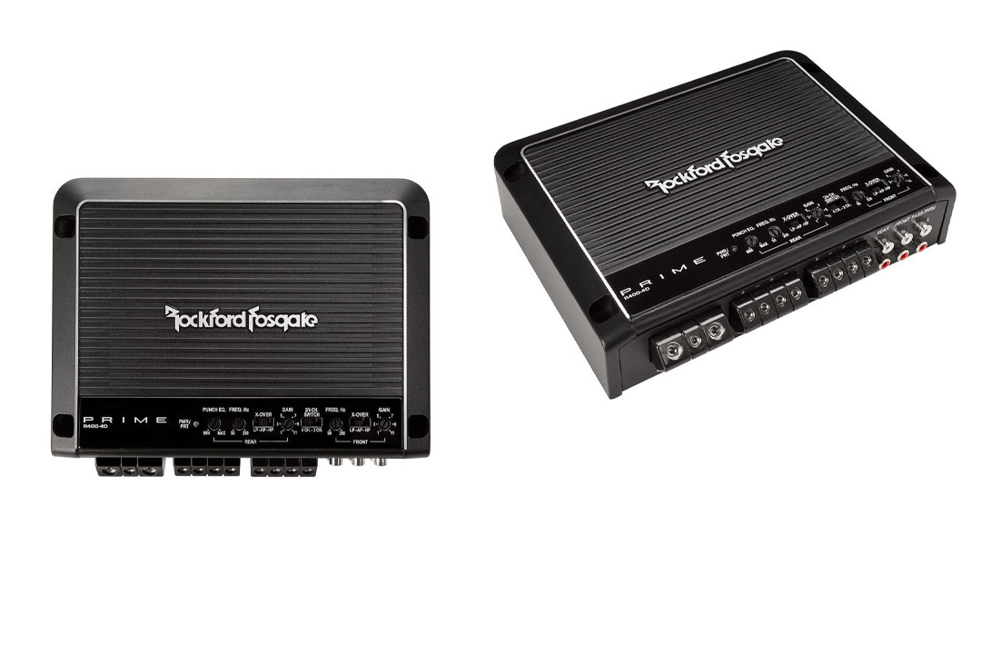Rockford Fosgate R400-4D 400 Watt Full-Range Class-D 4-Channel Amplifier