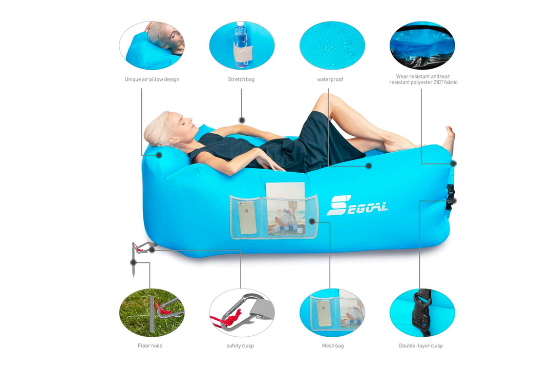 SEGOAL Inflatable Lounger Air Sofa Couch with Pillow