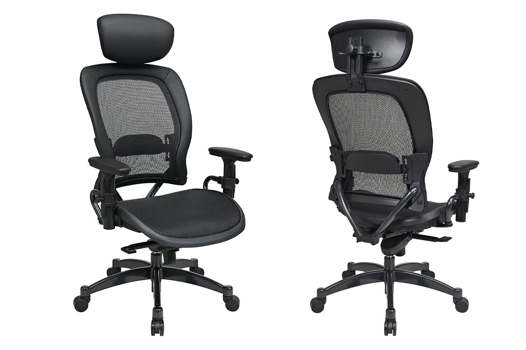 SPACE Seating Breathable Mesh Black Back and Seat