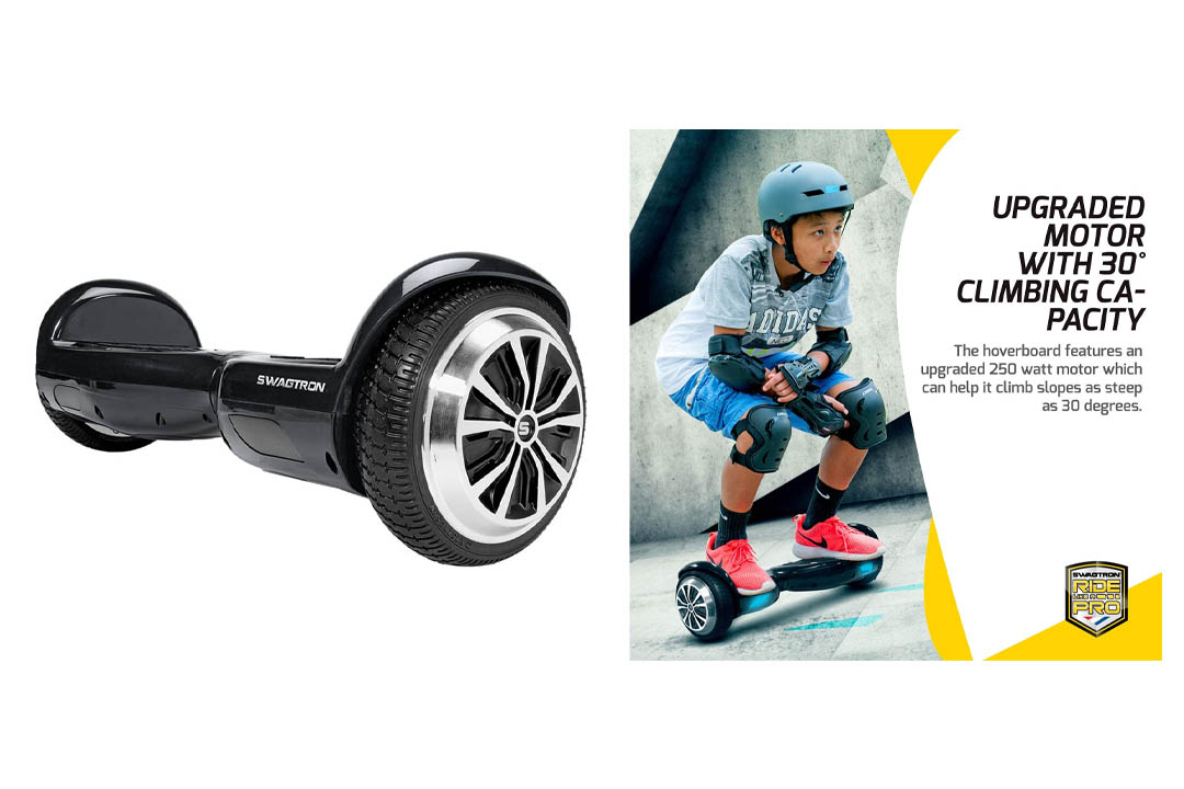 SWAGTRON T1 - UL 2272 Certified Hoverboard - Black