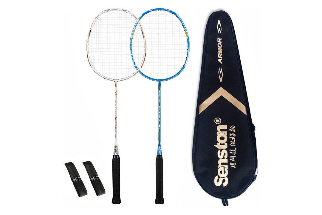 Senston Badminton Racket Set/Exercise Sport Shuttlecocks White Goose Feather Badminton