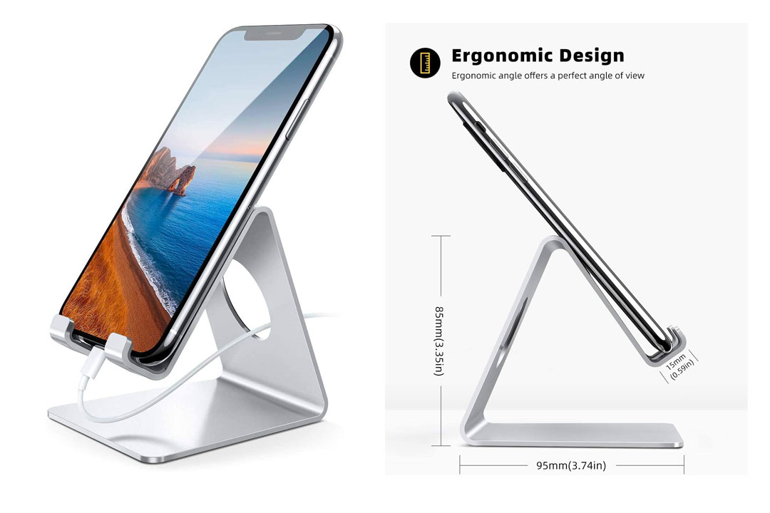 The iPhone Stand, Lamicall® S1 Aluminum Universal Cell Phone Stand Desk Desktop Holder