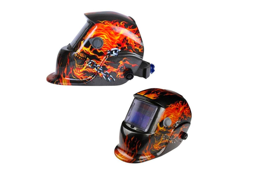 Urparcel Brand Skull And Flames Welding Helmet