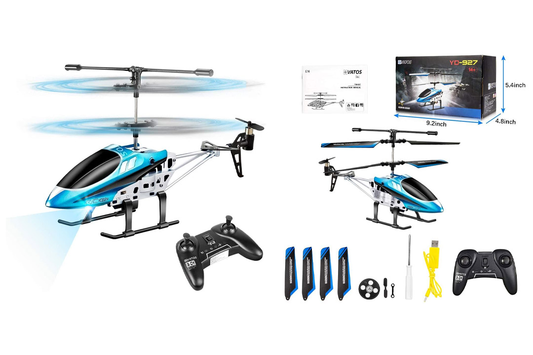 VATOS RC Helicopters, Remote Control Helicopter with Gyro and LED Light