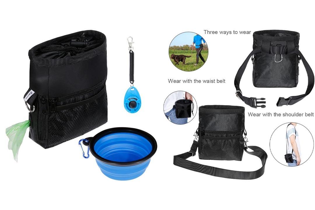 Zacro Dog Treat Training Pouch Bag Suit, including Adjustable Waist Belt Carrier
