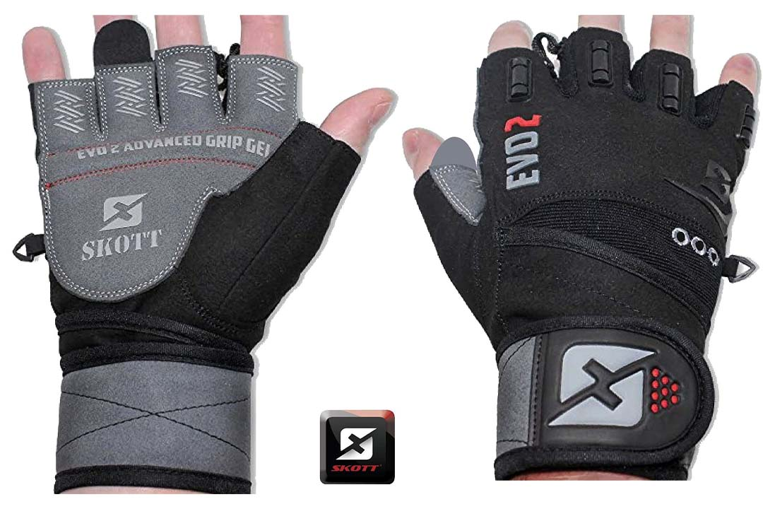 2021 Evo 2 Weightlifting Gloves with Integrated Wrist Wrap Support