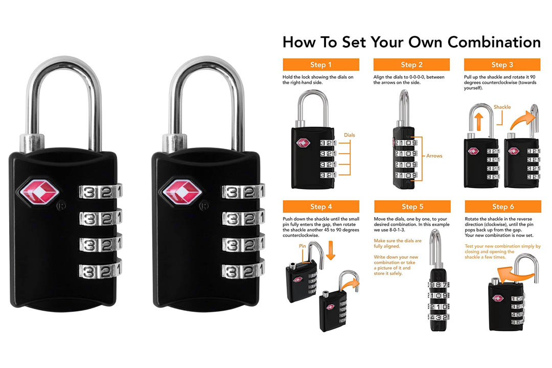 BV TSA-Accepted Combination Travel Lock