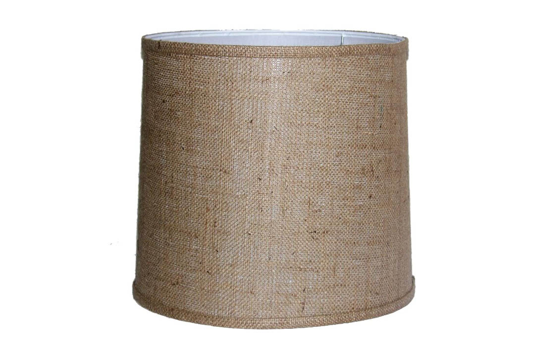 A Ray Brown Burlap Drum Shade