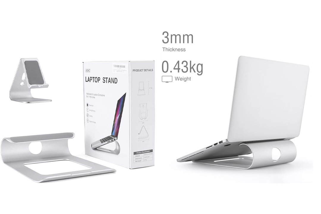 Acko Aluminum Laptop Stand Holder for Apple MacBook Air Tablet Stand