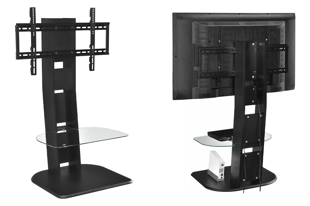 Altra Furniture Galaxy TV Stand with Mount for TVs Up to 50-Inch, Black Finish