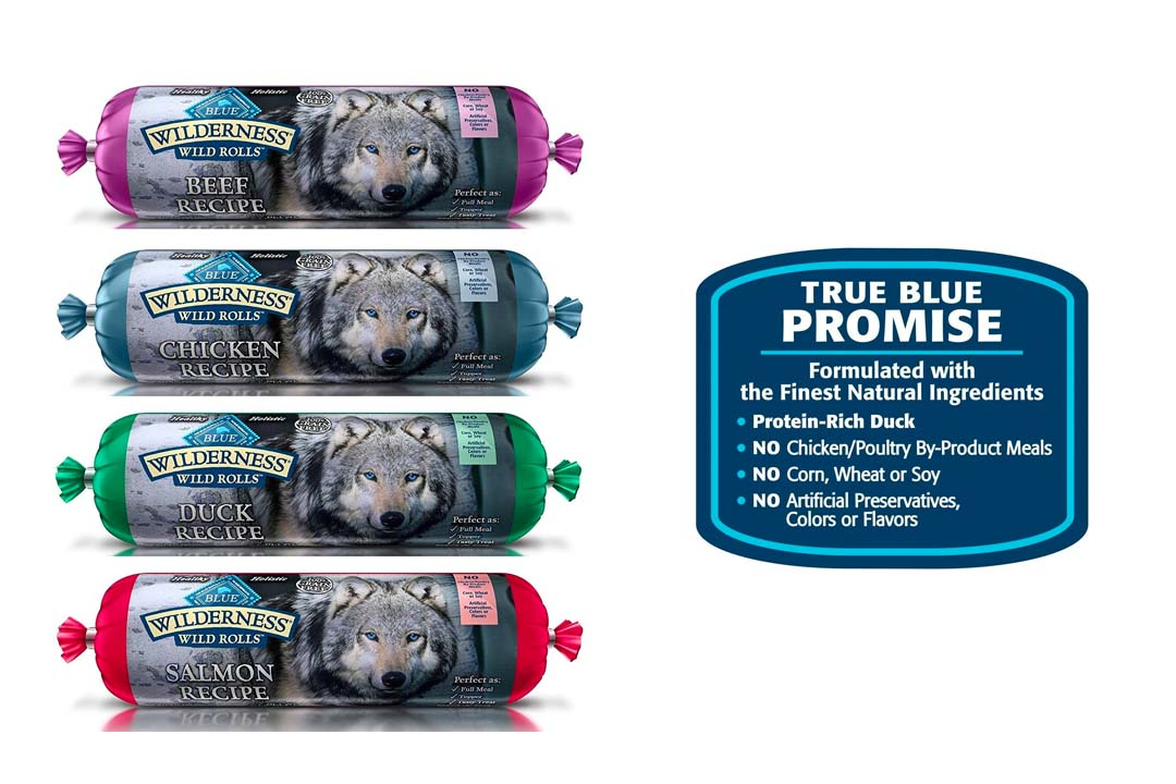 Blue Wilderness Wet Dog Food Rolls Natural Healthy Holistic Grain Free