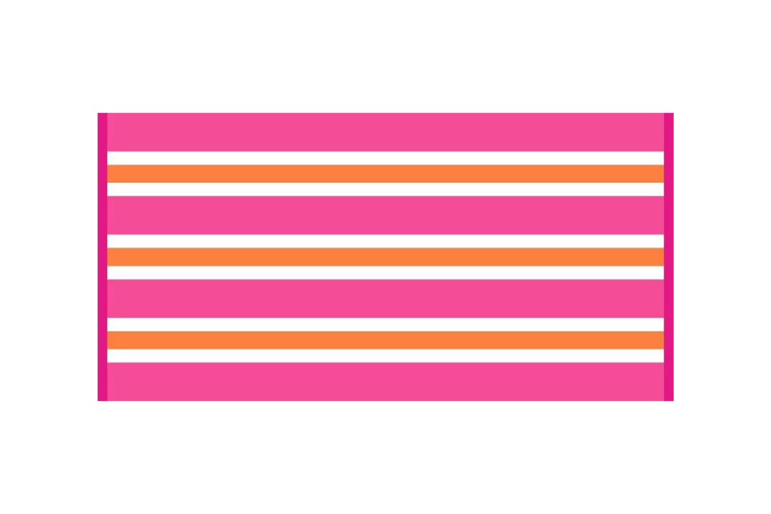 Cabana Basic Pink Stripe Beach Towel