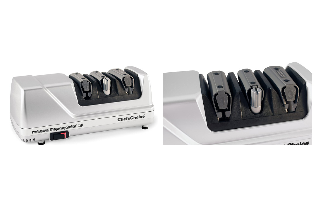 Chef's Choice 130 Professional Knife-Sharpening Station, Platinum