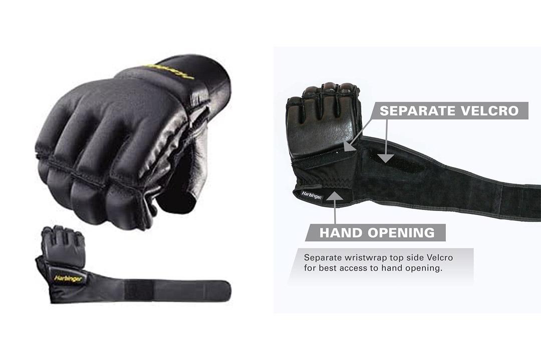 Harbinger 320 Bag Glove WristWrap (Black)