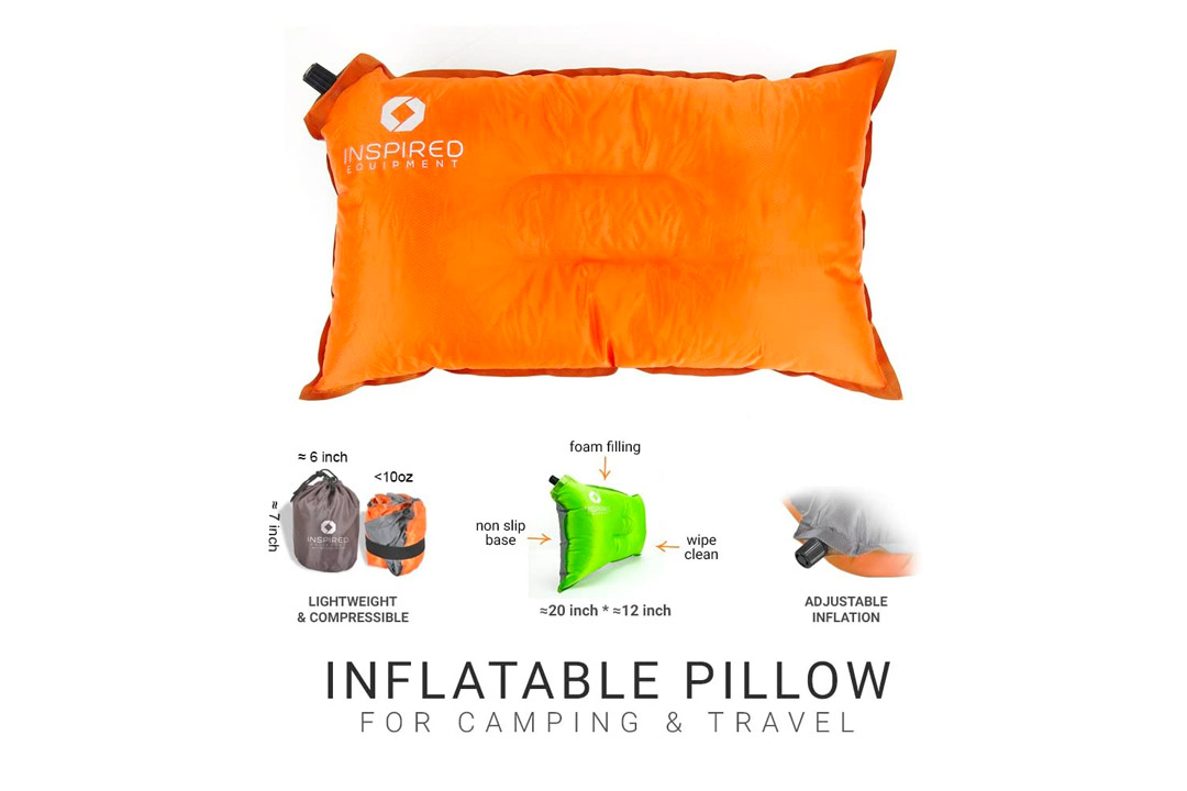 Inflatable Compressible Camping Pillow