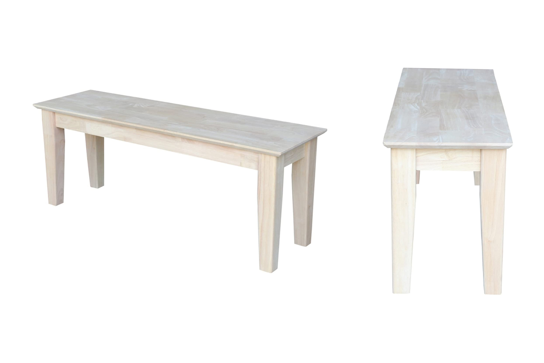 International Concepts BE-47S Shaker Style Bench,