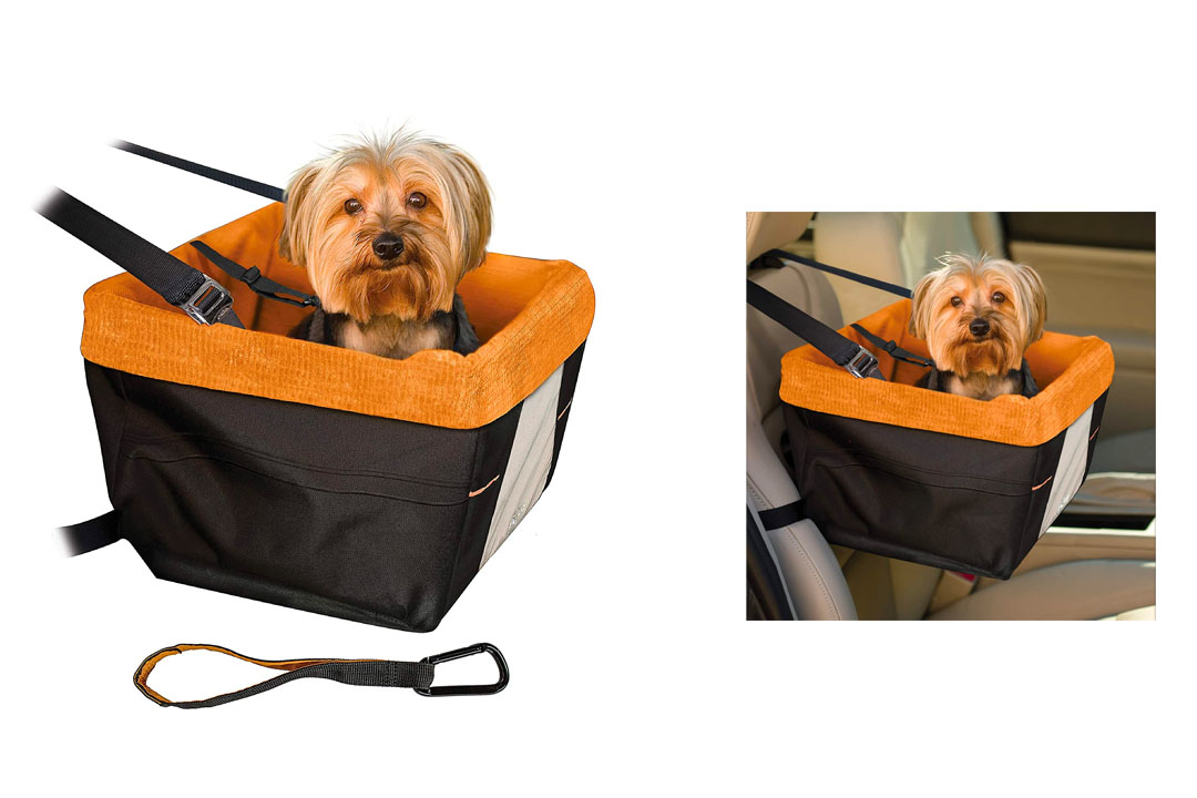 Kurgo Skybox Dog Booster Seat for Cars with Seat Belt Tether,