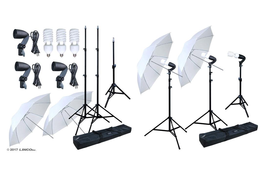 Linco Lincostore Photography Photo Portrait Studio 600W Umbrella Continuous Lighting Kit AM112