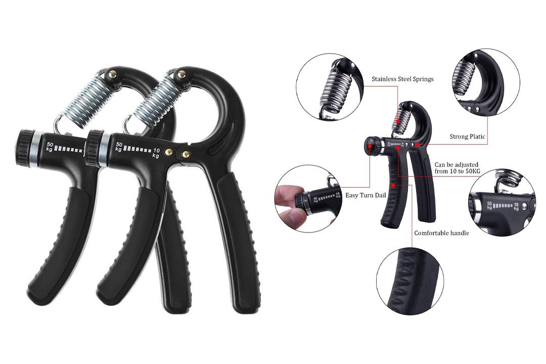 Luxon 2 Pack Hand Grip Strengthener Adjustable Resistance 22-110 Lbs (10 - 50kg) -Hand Grip Exerciser, Strengthen Grip, Hand Squeezer, Forearm Grip, Hand Exercise, Gripper, Finger Strengthener