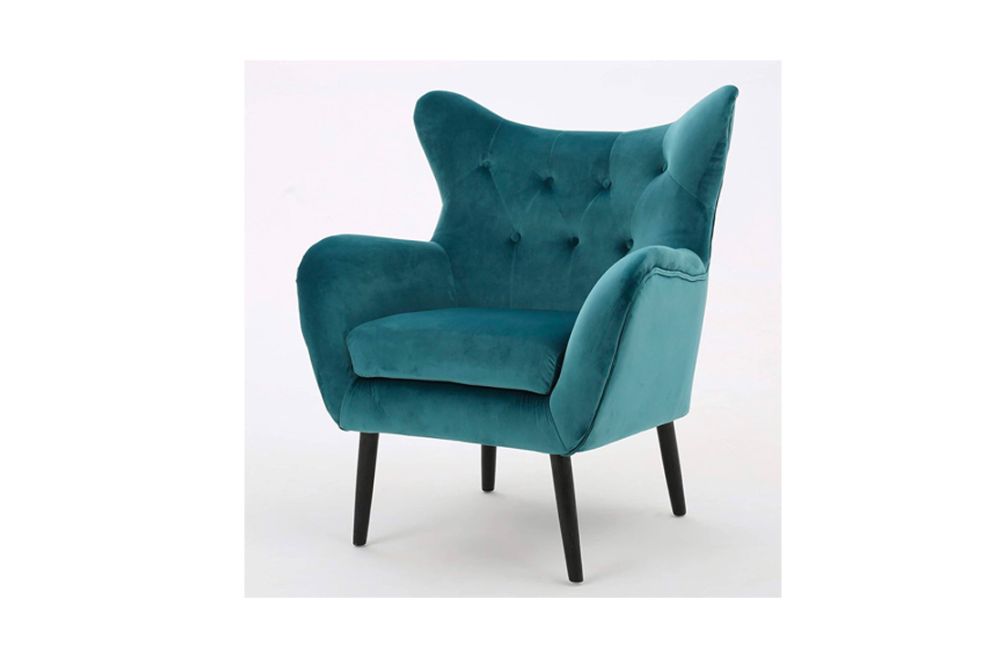 Mae Teal New Velvet Arm Chair