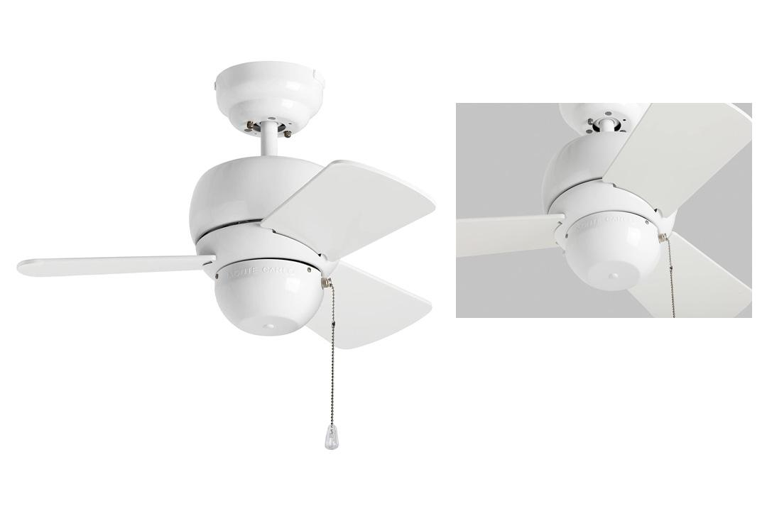 Monte Carlo Three-Blade White Ceiling Fan