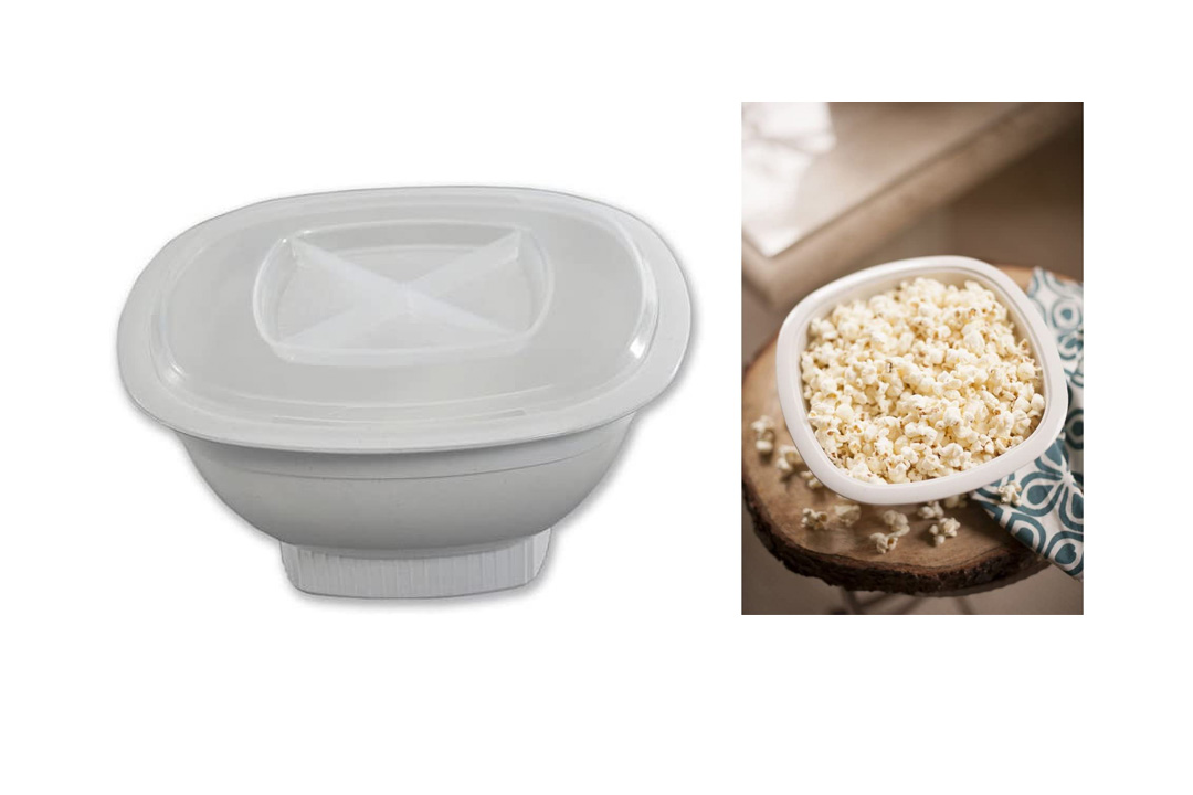 Nordic Ware Microwave Popcorn Popper, 12-Cup, White